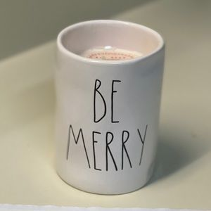 Rae Dunn Be Merry 11.4 Oz Ceramic Candle